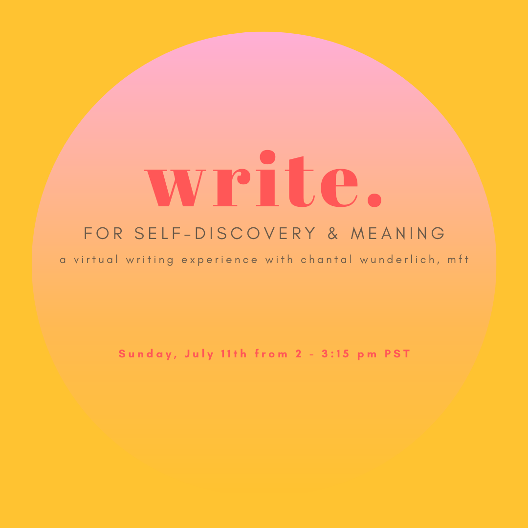 Write for Self-Discovery and Meaning July